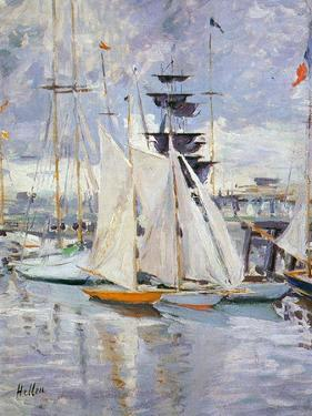 The Harbour, Deauville, Normandy, 1912 by Paul Cesar Helleu