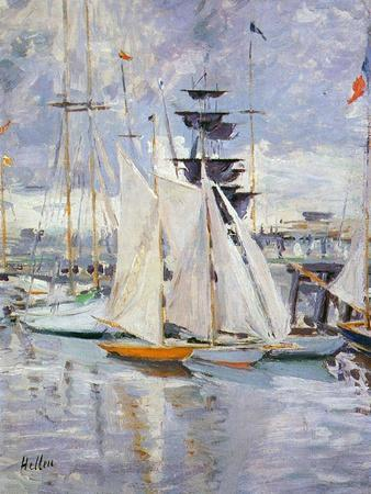 The Harbour, Deauville, Normandy, 1912