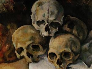 A Pyramid of Skulls, 1898-1900 by Paul Cézanne