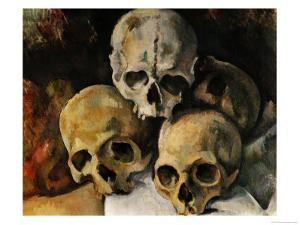 A Pyramid of Skulls, 1898-1900 by Paul Cézanne