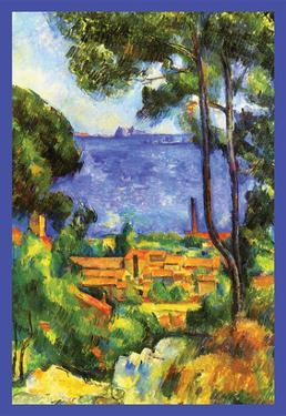 A View Through the Trees Of by Paul Cézanne