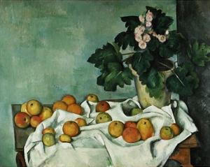 Apples and Primroses by Paul Cézanne