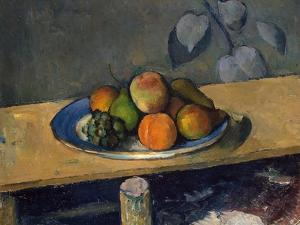 Apples, Pears and Grapes, C.1879 by Paul Cézanne