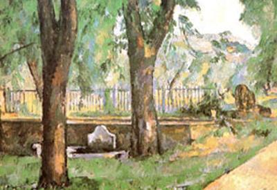 Basin and Fountain of Jas de Bouffan by Paul Cézanne