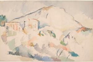 Chateau Noir And Mont Sainte-Victoire by Paul Cézanne