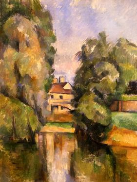 Country House by the Water, C.1888 by Paul Cézanne