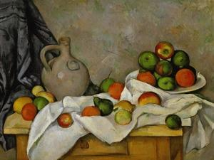 Curtain, Jug and Bowl of Fruit, 1893-1894 by Paul Cézanne