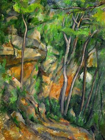 Dans le parc de Chateau-Noir (in the Park). by Paul Cezanne