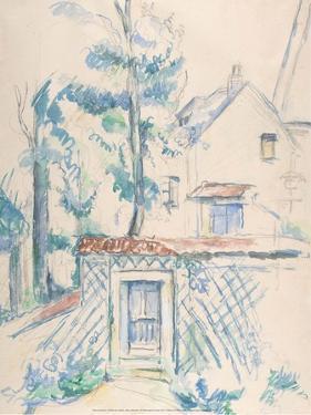 Entre?e de Jardin, date unknown by Paul Cézanne