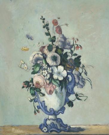 Flowers in a Rococo Vase, 1876 by Paul Cezanne