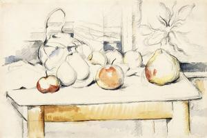 Ginger Jar and Fruit on a Table, 1888-90 by Paul Cézanne