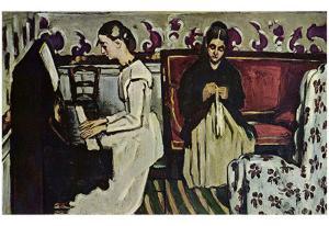 Paul Cezanne (Girls at the Piano) Art Poster Print