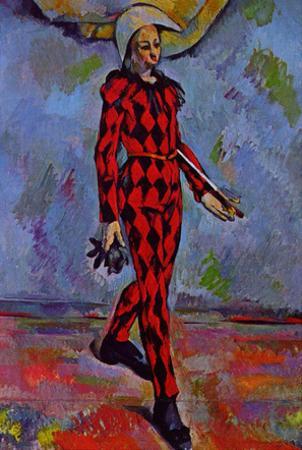 Paul Cezanne (Harlekin) Art Poster Print