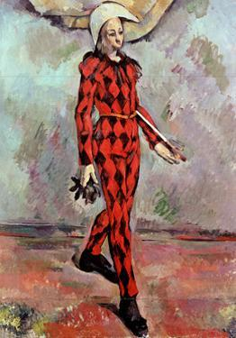 Harlequin, 1890 by Paul Cézanne