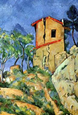 Paul Cezanne House with Walls Art Print Poster
