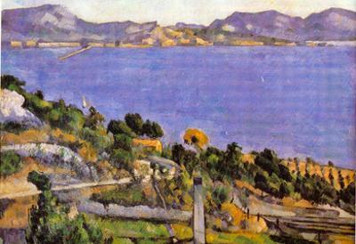Paul Cezanne L'Estaque Vue du Golfe de Marseille 1878 Art Print Poster