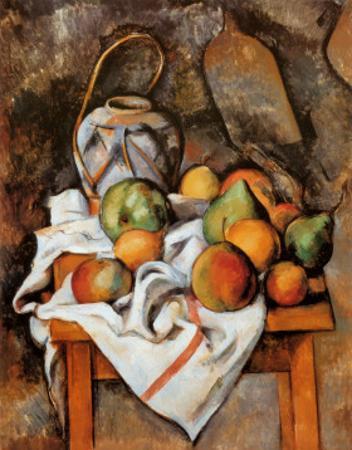 La Vase Paille by Paul Cézanne