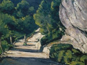 Landscape. Road with Trees in Rocky Mountains by Paul Cézanne