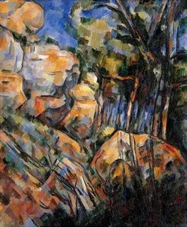 Landscape Rocks Above the Caves at Chateau Noir by Paul Cézanne