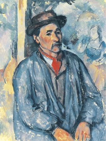 Man in a Blue Smock, c.1896-97 by Paul Cezanne