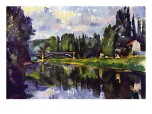 Marne Shore by Paul Cézanne