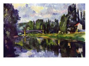 Marne Shore by Paul Cézanne
