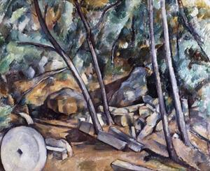 Millstone in the Park of the Chateau Noir by Paul Cézanne