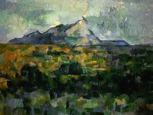Mount Sainte-Victoire, 1906 by Paul Cézanne