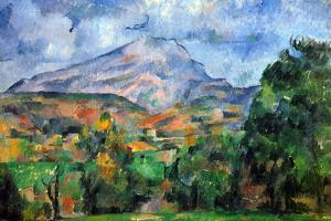 Paul Cezanne Mount St Victoire Plastic Sign