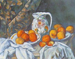Natura Morta con Tenda by Paul Cézanne