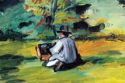Painter at Work by Paul Cézanne