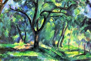 Paul Cezanne In the Woods by Paul Cézanne