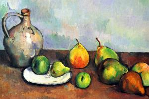 Paul Cezanne Still Life Jar and Fruit by Paul Cézanne