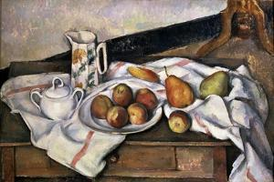 Peaches and Pears, 1890-1894 by Paul Cézanne