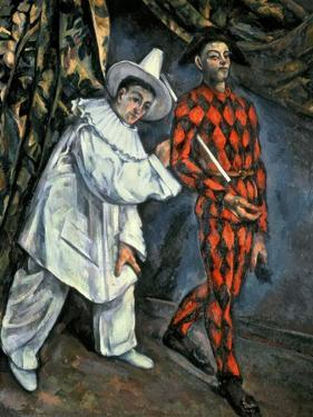Pierrot and Harlequin (Mardi Gras), 1888 by Paul Cézanne