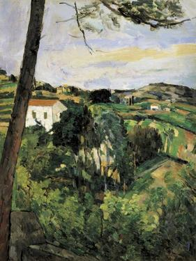 Pine-Tree at L'Estaque (Landscape with Red Roof) by Paul Cézanne