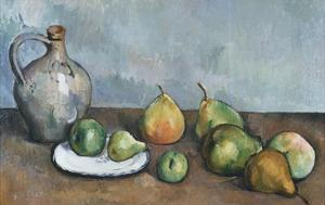 Pitcher and Fruit by Paul Cézanne