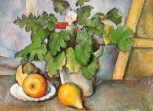 Plate with Fruit and Earthenware by Paul Cézanne