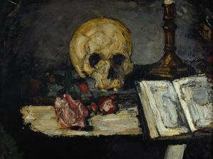 Skull and Candlestick, circa 1866 by Paul Cézanne