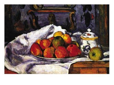 Still Life Bowl of Apples by Paul Cézanne