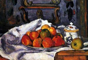 Paul Cezanne (Still Life, Bowl with apples) Art Poster Print