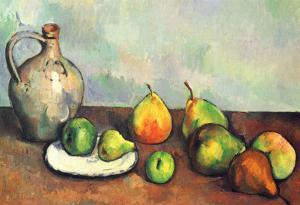 Paul Cezanne (Still Life, Fruit and Jug) Art Poster Print