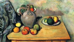 Paul Cezanne (Still Life, Fruit and Jug on a Table) Art Poster Print