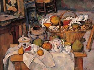 Still life in the Basket by Paul Cézanne
