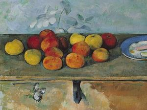 Still Life of Apples and Biscuits, 1880-82 by Paul Cézanne