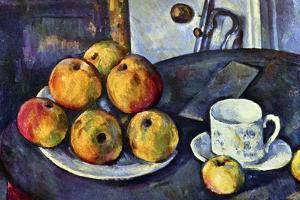 Paul Cezanne Still Life with a Bottle and Apple Cart