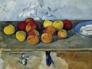 Still-Life with Apples and Cookies, 1879-82 by Paul Cézanne