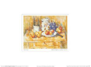 Still Life with Apples on a Sideboard by Paul Cézanne