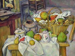 Still Life with Basket, 1888-90 by Paul Cézanne