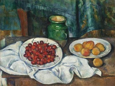 Still Life with Cherries and Peaches, 1885-7 by Paul Cezanne